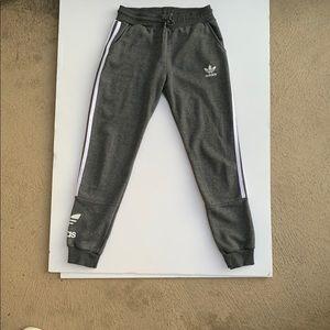 Adidas women's sweatpants grey heather used